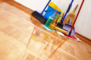 spring cleaning floors