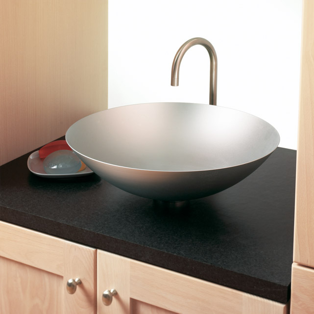 Soapstone can look as at home in a modern style bathroom as in a historic renovation.