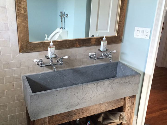 Rustic, extra wide sink