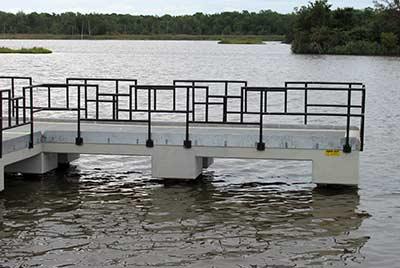 black powder coated railing