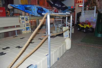 rope railing stand - double ropes