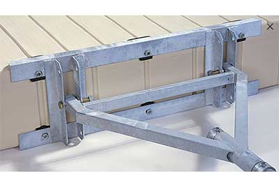 EZ Dock anchoring - heavy duty stiff arm anchoring system