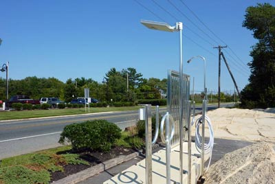 Solar Lighting - Overhead solar dock light