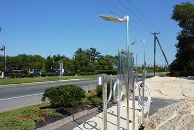 Solar Lighting - Overhead solar dock light