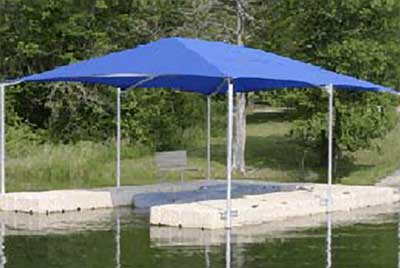 EZ Dock canvas roof system