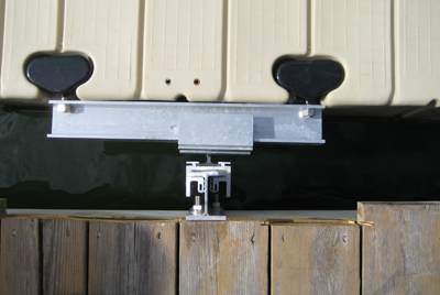 dock slide anchor - top view