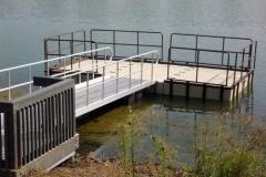 Access management - railings - galvanized steel, powder coated or aluminum