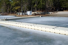 Commercial application - camps and parks - docks can remain in the water all year.