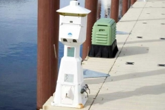 Commercial applicaton - marinas - industry standart utility pedestal on EZ Dock