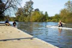 Education application - rowing - non-skid dock surface, never to hot to burn feet, no splinters or cuts