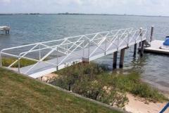 long aluminum fixed pier