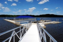 Gangways and Fixed Piers - Aluminum pier with custom railings.