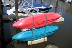 kayak rack attached to an EZ Dock