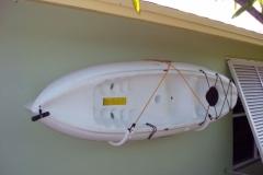 picture of kayak rack with kayak mounted