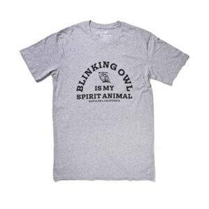 Blinking Owl is My spirit Animal t-shirt color gray