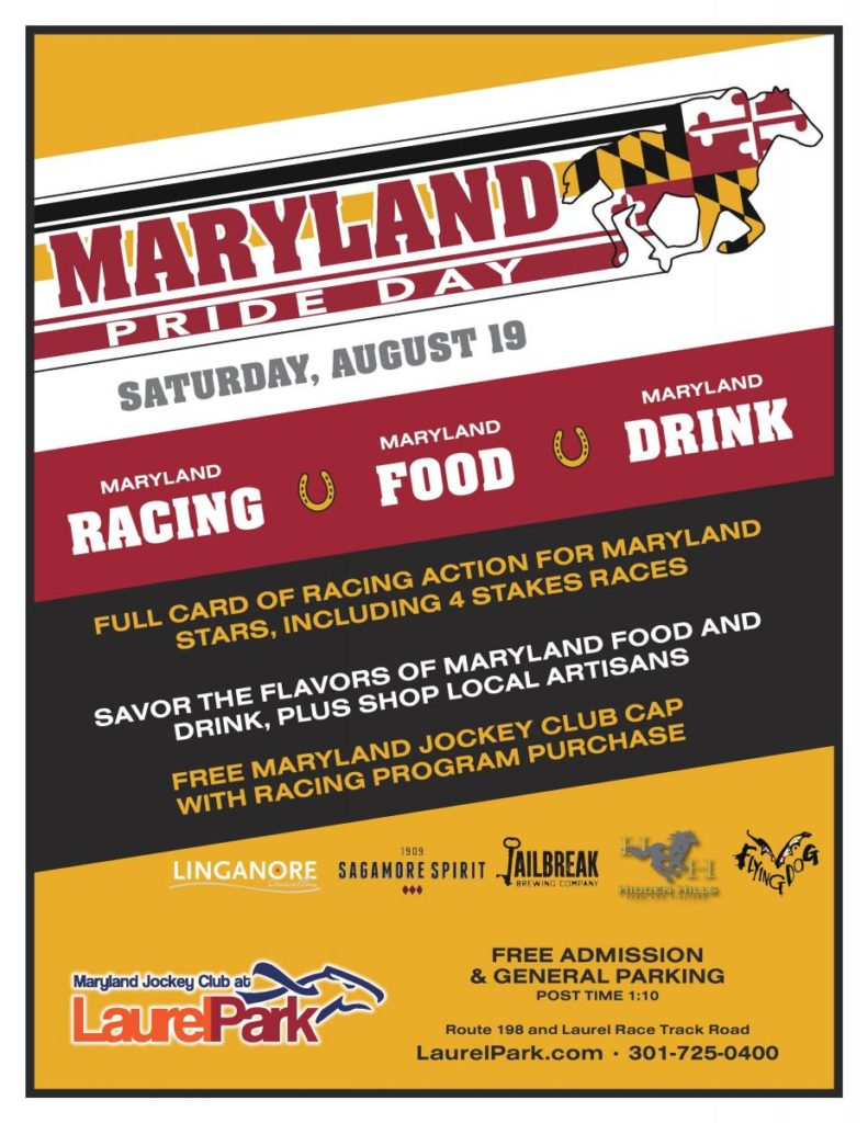 Horse Racing Nation: Maryland Pride Day Features Cap Giveaway, Food & Drink Specials