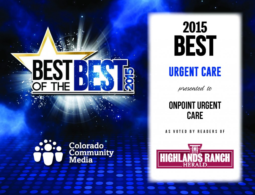 best of highlands ranch 2015 - Onpoint UrgentCare
