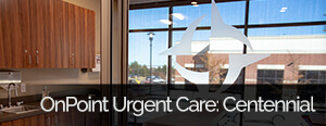 OnPoint Urgent Care Centennial Location (DTC) Denver Tech Center Banner