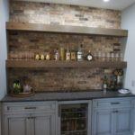 Built-in Bar Brick Accents