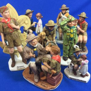 Boy Scout  Norman Rockwell Figures