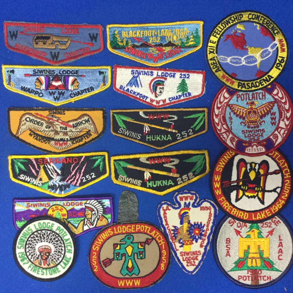Siwinis OA Lodge 252 Patcheses
