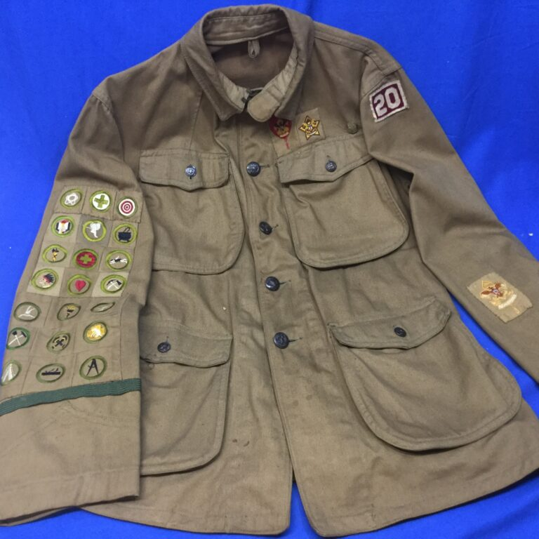 Boy Scout Vintage High Collar Coat