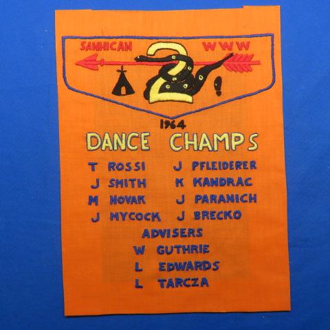 OA Sanhican Lodge 2 1964 Dance Champs