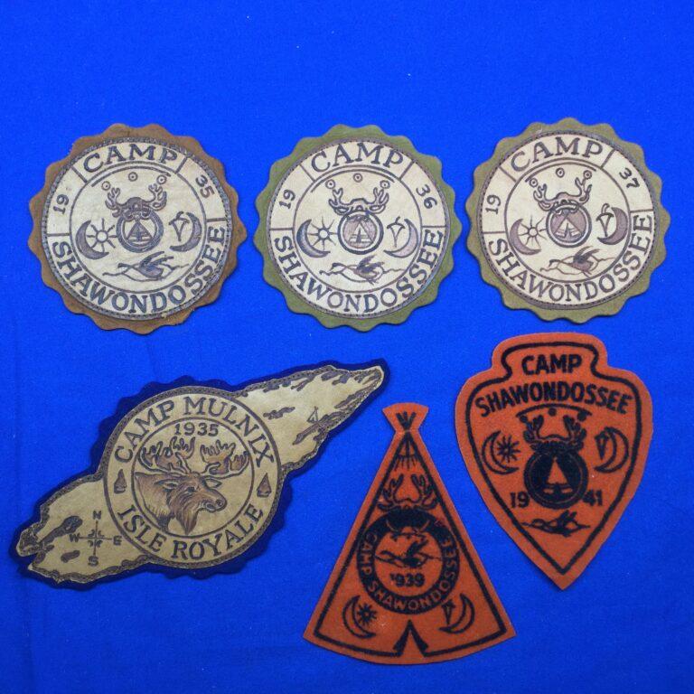 Vintage Camp Shawondossee & Mulnix Patches