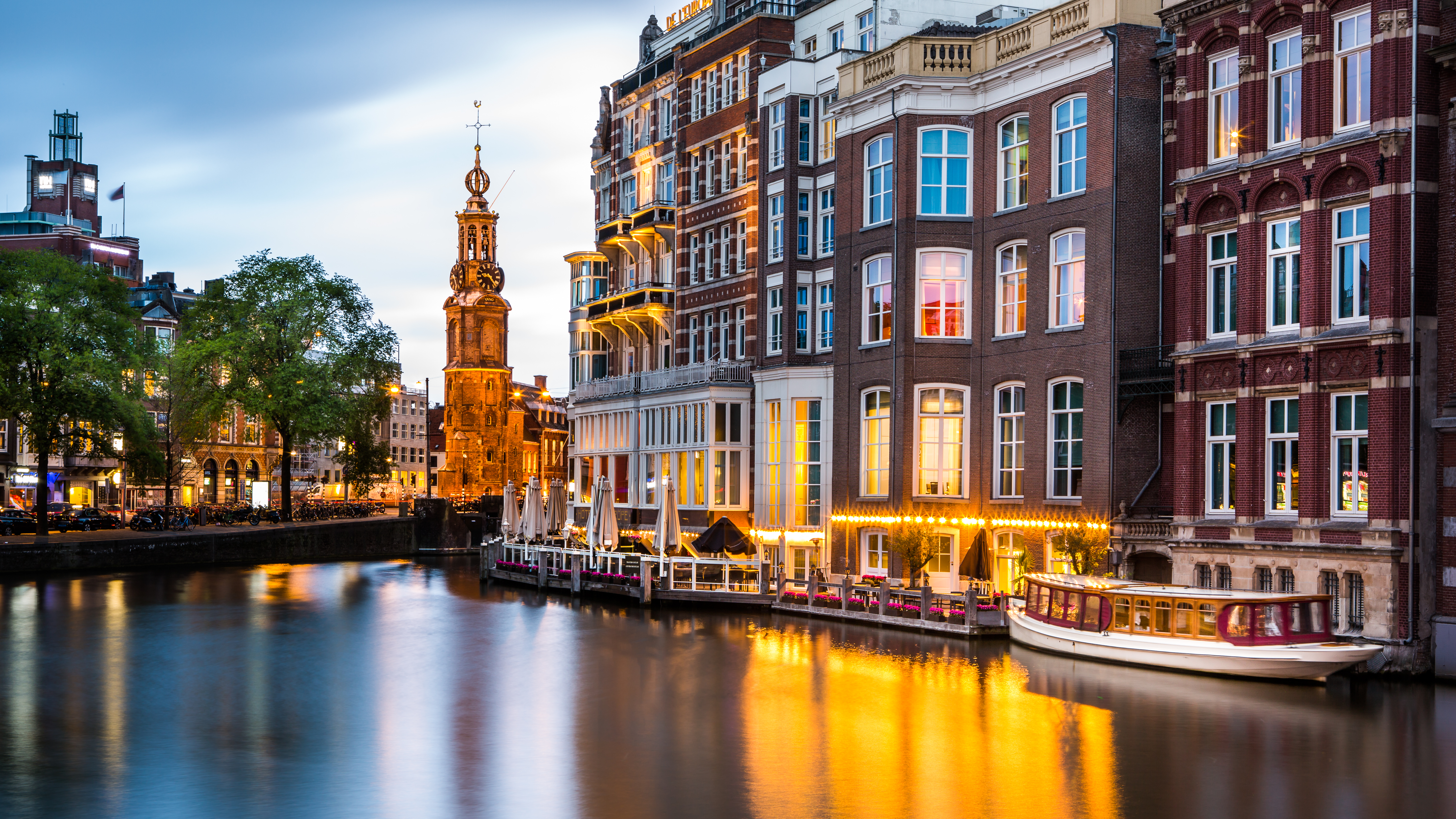 Traditional Amsterdam homes.