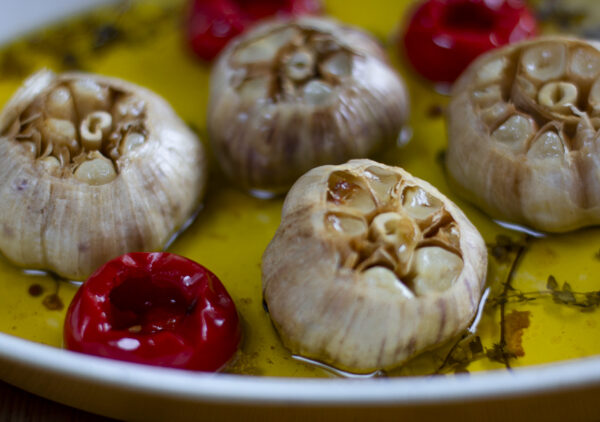 Roasted Garlic Heads in the Oven