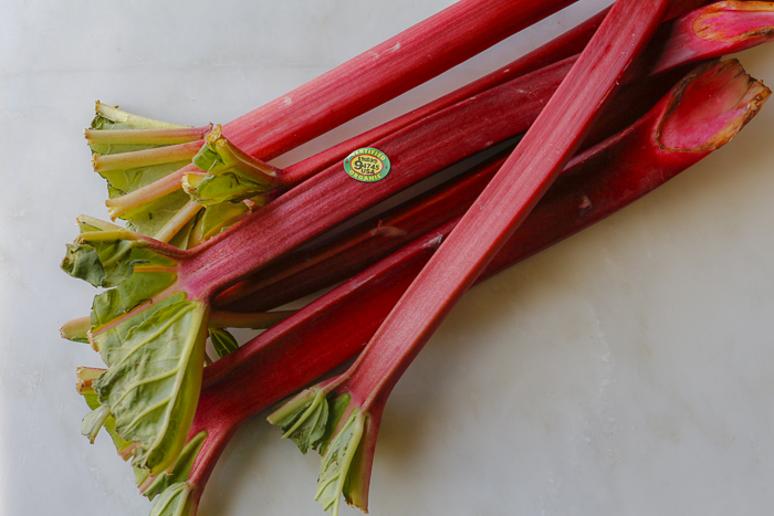 Beautiful Organic Rhubarb Stalks