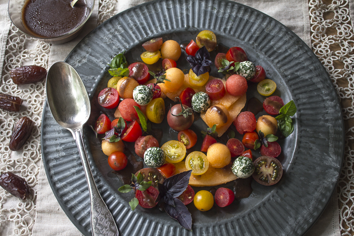 Serve the salad with Date-Balsamic Dressing