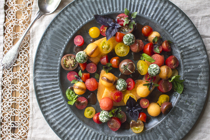 7.7.15 -tomato and melon salad-7