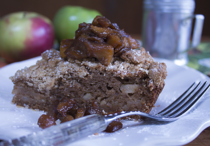 Top the cake with Caramelized Apples