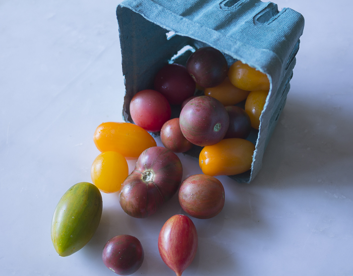 Local cherry tomatoes for chopping and roasting
