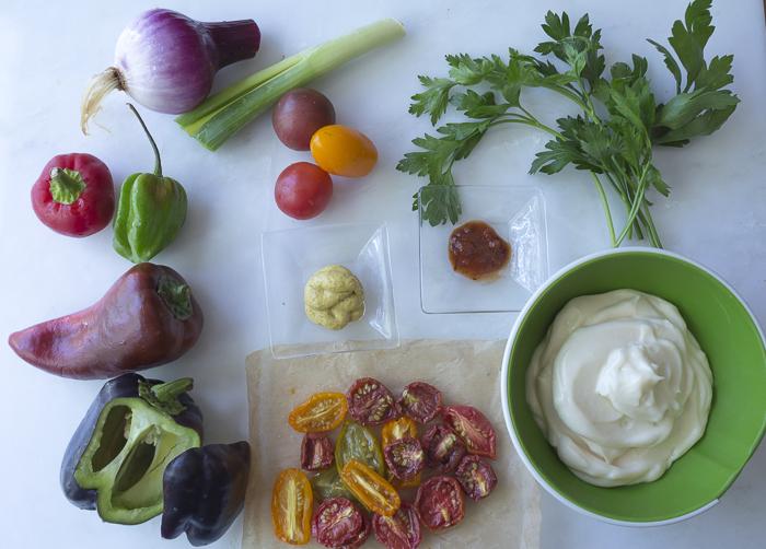 Ingredients for the tartar sauce