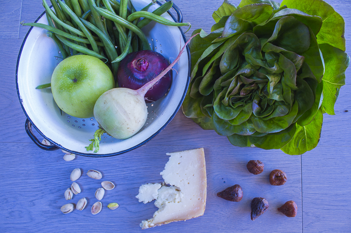 Ingredients for the Fall Salad