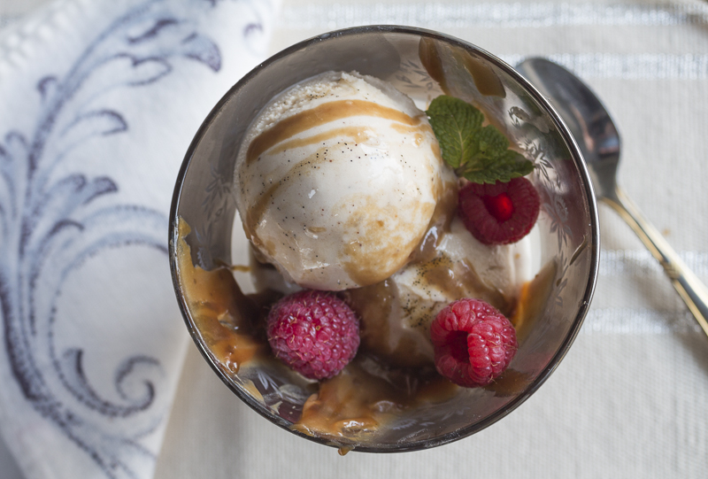 To make Parfaits - add some Caramel Sauce and Fresh Raspberries