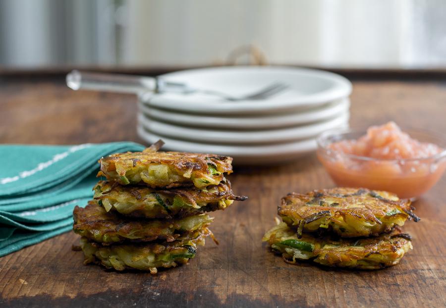 The perfect Latke recipe,  crispy on the outside,  tender inside. Serve with my homemade applesauce
