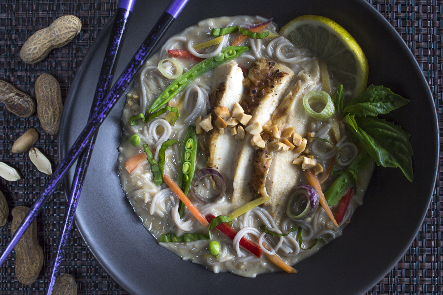 A complete healthy meal with robust Thai flavors