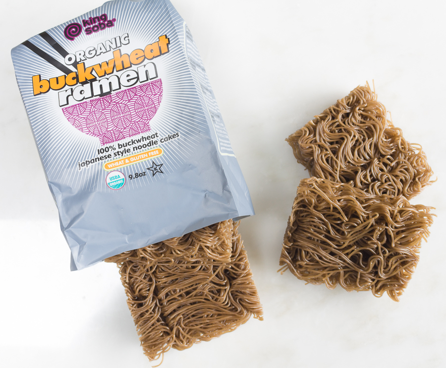 Buckwheat Ramen - the most fiber of all ramen noodles; this one, gluten-free and not fried... organic too!