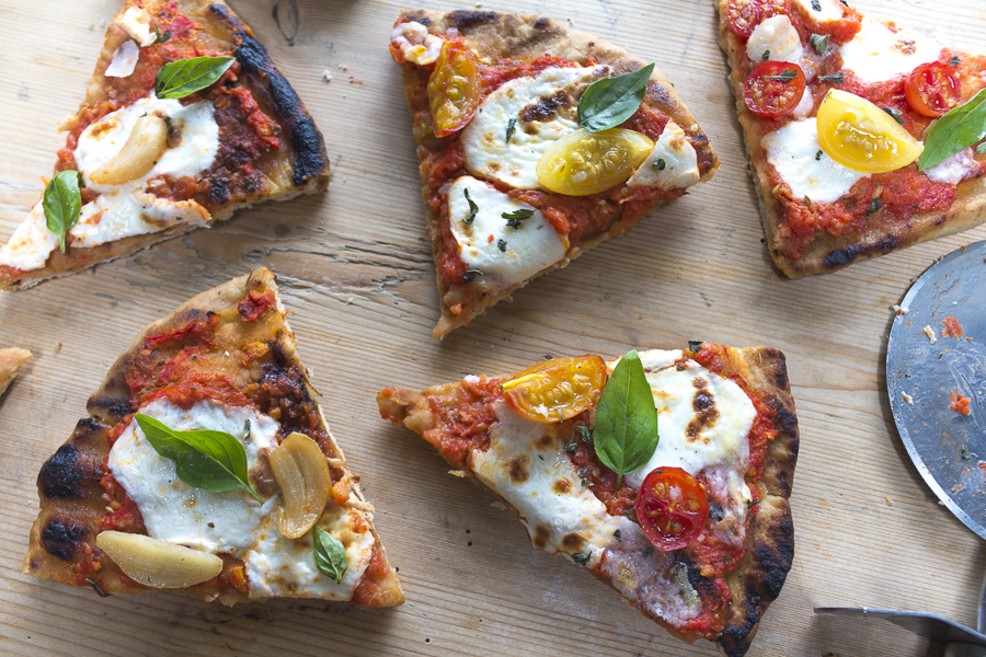 Hot off the grill,  delicious,  crispy and smokey pizza - restaurant quality at home!
