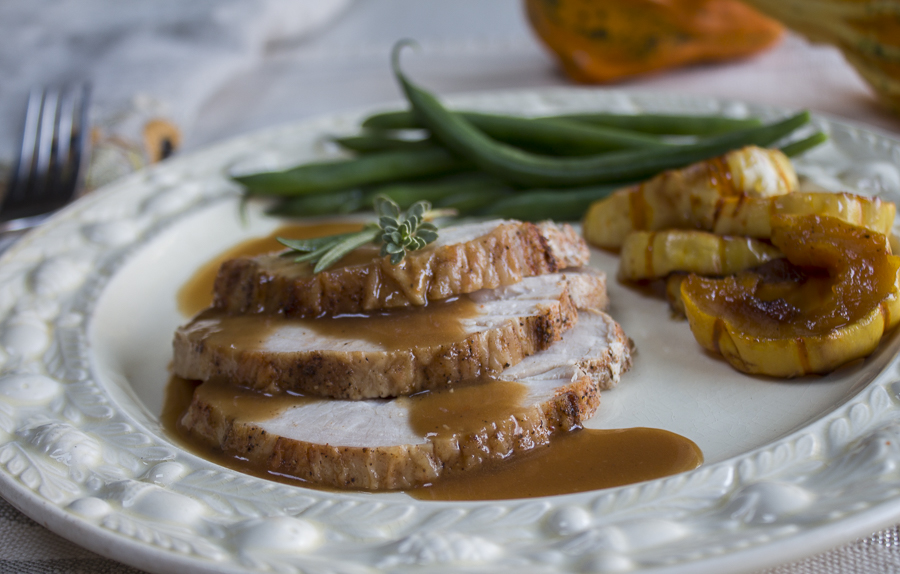 Just the most magnificent gravy – with a deep, rich mahogany- brown color, and luscious flavor.