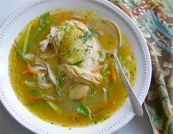 A bevy of vegetables enrich this soup, ginger and garlic add a boost of flavor