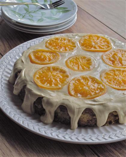 """Simple ingredients transform into a moist and heavenly orange-almond flourless cake. Reminiscent of a Sicilian recipe, Mediterranean ingredients, using Marcona Almonds and Clementine Oranges from Spain. Inspired by movie: """"The Secret Lives of Walter Mitty."""""""
