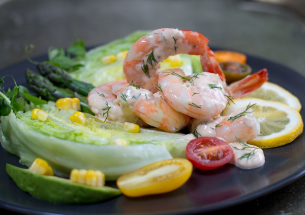 For a zippy modern shrimp louis dressing whisk all ingredients together, and toss with fresh steamed shrimp