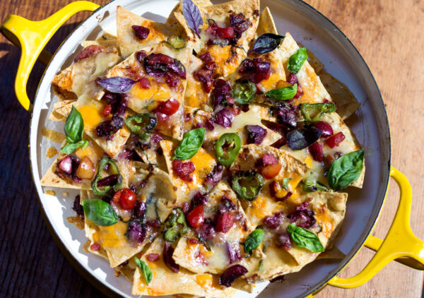 Try this wonderful Cherry Salsa that's tart, spicy with a hint of sweetness. Add to layers of tortilla chips and cheeses for the ultimate, updated NACHOS ~ YUM!