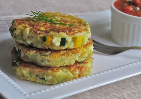"A twist on the Spanish ""Tortita"" ~ these vegetable griddle cakes are delicious.. you can't eat just one!"