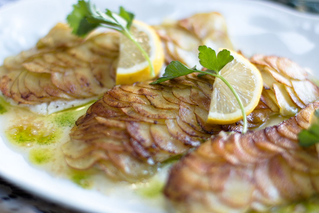 Potato Scaled Fish - oh so French.. oh so delicious!