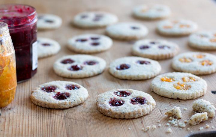 Lemon Poppy Linzer Cookies – Vegan & Gluten Free